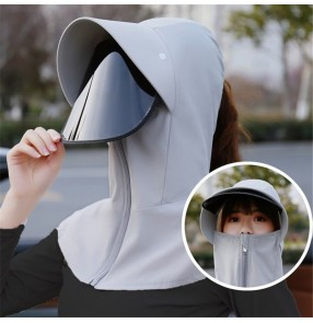 Anti-spray droplet hat with face shield for kids adult dust direct splash proof full face uv sun protection protective cap for kids and women