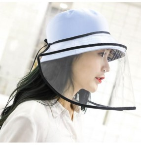 Anti-spray fisherman's hat with face shield eye face protection anti-dust sunscreen fisherman hat for men and women