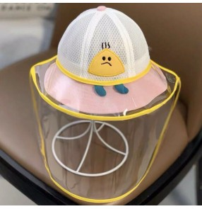 anti-spray saliva Baby hat child fisherman hat with face shield dust proof sunscreen isolation protective cap toddlers hat
