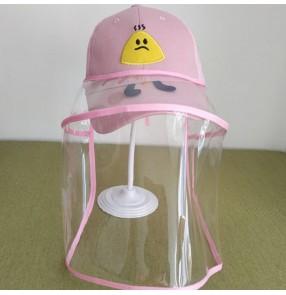 Anti-spray saliva direct splash baseball cap for children with clear face shield dust virus proof summer protective cap for boy girls