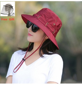 Anti-spray saliva direct splash fisherman's hat with clear face shieldfor unisex anti-uv hiking outdoor protective hat for women men