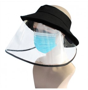 Anti-spray saliva direct splash summer visor cap with face shield for adult and children sunscreen dust proof protective sun hat for kids women and men