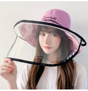 Anti-spray saliva double sided fisherman's cap for women dust proof safety protect outdoor sun cap for female
