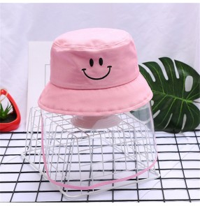 Anti-spray saliva fisherman's cap with clear face shield for kids children outdoor sunscreen summer protective hat for boys and girls