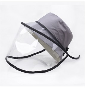 Anti-spray saliva fisherman's cap with clear face shield for women and men sunscreen virus dust proof protective sun hat for unisex