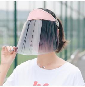 Anti-spray saliva hat for women dustproof anti uv sunscreen visor cap