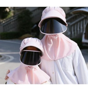 anti-spray saliva outdoor hat with face shield face cover mask sunscreen cap for adult and children