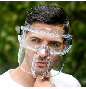 Anti-spray saliva transparent full face cover mask direct splash proof face shield for unisex kitchen anti-oil face protective mask for men women