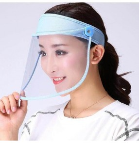 Anti-spray spittle hat with face shield for women and men anti-virus transparent face shield mask visor cap