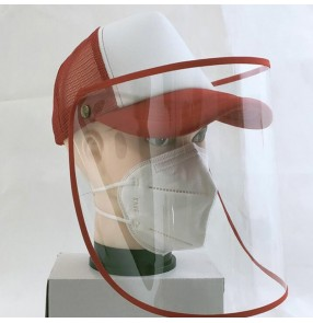 Antivirus baseball hats with clear face shield spray saliva proof outdoor peaked cap sunhats for unisex