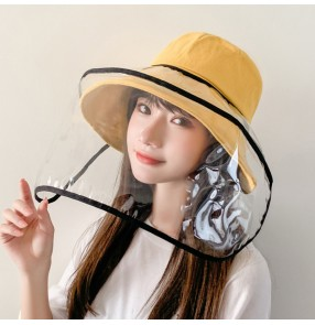 antivirus spray saliva outdoor fisherman's cap for women with face shield dust proof safety protect sun cap