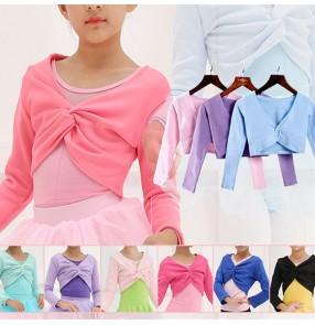 Autumn winter dance warm cape for children's dance girls long-sleeve velvet outerwear exercise clothes for children exercise shawl top for kids