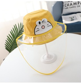 Baby anti-droplet full facemask fisherman's hat dustproof safety protection sunhat for kids