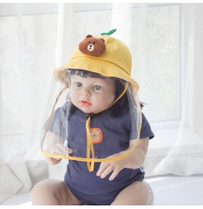 Baby anti-droplet saliva hat outdoor toddlers sun cap bucket sunscreen hats