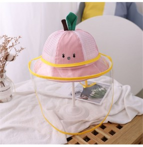 Baby anti-spray saliva face shield fisherman's cap dustproof sunscreen protective cap for kids