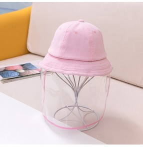 Baby toddlers anti-spray face shield fisherman hat dust saliva proof safety protect sun cap for kids