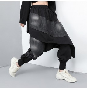 Baggy harem pants for women hiphop street dance wide leg baggy pants for female
