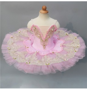 Ballet dress pink tutu skirt for children Fairy Swan Lake Sleeping Beauty Costumes ballerina pancake Skirt ballet dance Costume