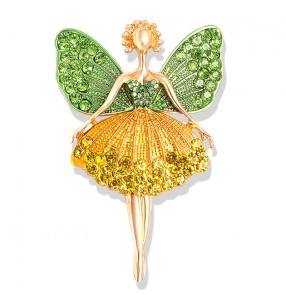 Ballet Girl rhines brooch Dance Angel Corsage Personality Sweet Atmosphere Brooch Pin Sweater Accessories Button