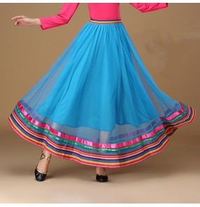 Ballroom dance skirts modern dance indian belly dance skirts for women