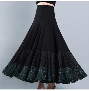 Ballroom dancing skirt for women stage performance waltz tango dance skirts