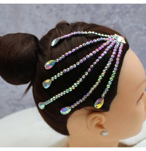 Ballroom latin competition Standard Dance Hair Accessories bling headdress Latin Dance Octopus Headband with Diamonds Children adult forehead accessories