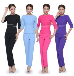 Beauty salon Beautician suits for female hotel waiter overalls hospital nurse uniforms work masseur overalls tops and pants