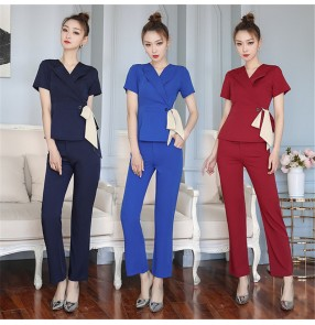 Beauty salon technician work clothes for women long trousers suit foot reflexology foot bath work uniforms for women