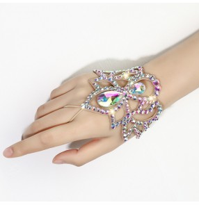 Belly latin Dance Bracelet stage performance bling Rhinestone Bracelet Exquisite jewelry Accessories