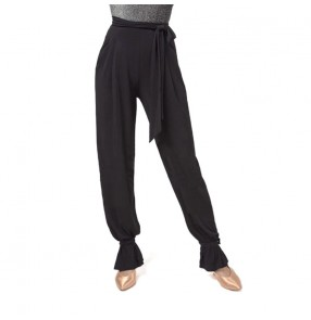 Black Latina Dance Pants For Women Latin Dance Costume Ballroom Dance Wear Fall Clothes Tango Dance Outfits Samba Rumba Pants