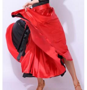 Black with red Latin dance practice skirt female adult paso double dance flamenco dance skirt Bullfighting dance skirt professional performance dance costume