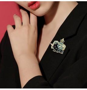Bling Elephant brooch animal anti-glare ladies brooch men's suit brooch accessories