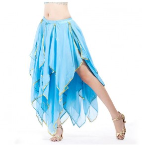 blue green black Belly dance skirts for women modern dance stage performance indian queen belly dance costumes for female