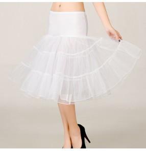 Boneless Wedding dress evening dresses Mesh petticoat Colorful petticoat fluffy tutu skirt