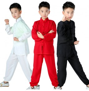Boy chinese kung fu clothing wushu Martial arts stage performance clothes children Taekwondo Practice training Kung Fu suit  for boy girls