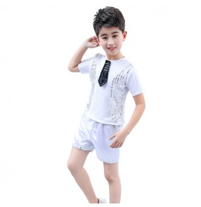 Boy jazz modern dance costumes singers hiphop school show stage performance outfits costumes