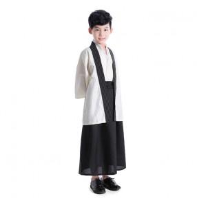 Boy kids traditional japanese kimono dress drama cosplay yakata dress for children stage photos shooting costumes