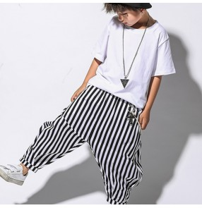 Boy street hiphop jazz dance costumes girls boys stage performance school show catwalk competition tops and pants