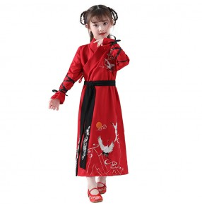 Boys girls hanfu chinese  ancient tradional cosplay swordsman robes korean kimono dresses drama cosplay dresses