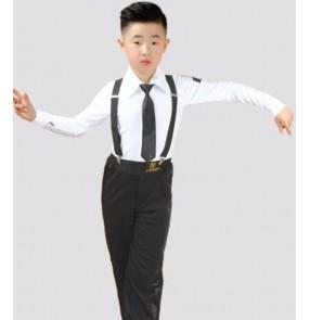 Boys Latin Dance Clothes Competition Professional Boys latin shirt latin dance pants Children's Regulations Grade Examination Dance Costume