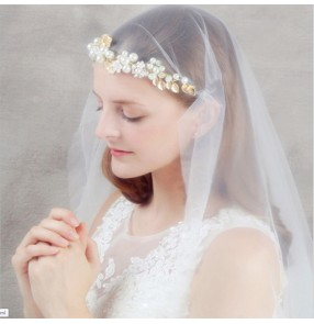 Bridal headwear headband photos video shooting headdress children's jewelry girls headband wedding hair accessories