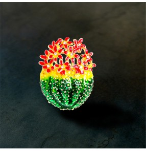 Cactus brooch Cactus corsage jacket clothing suit accessories pins