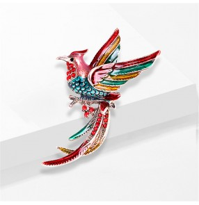 Cartoon bling brids Brooch for women and men bird painted temperament brooch coat accessories clothing accessories pin buckle