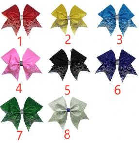 Cheerleading glitter headdress for women girls flower ball dance head flower cheerleading head knot head rope big bow for female models