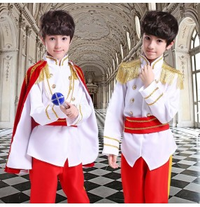 Child boys anime game drama cosplay costumes king prince masquerade dress up role playing robes outfits