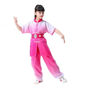 Children boys girls chinese wushu performance costumes school competition taichi kungfu traditional dance uniforms suits