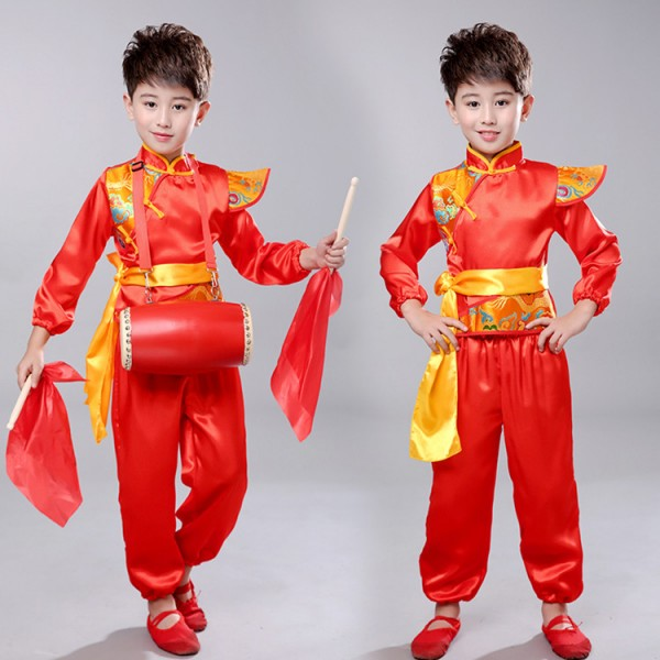 47c3a7dbb Children chinese folk dance costumes for dragon style girls boys stage ...