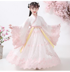 Children chinese Hanfu girl Chinese style children's clothing Tang suit fairy dress girl Sakura princess children's kimono costumes