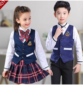 Children England style chorus costume host singers kindergarten recitation primary middle school student stage performance dress