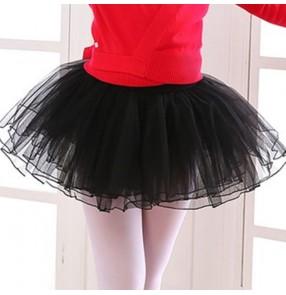 Children Girls Ballet Dance Tutu skirts kids performance pettiskirt white net gauze skirt girl ballet dancing skirt